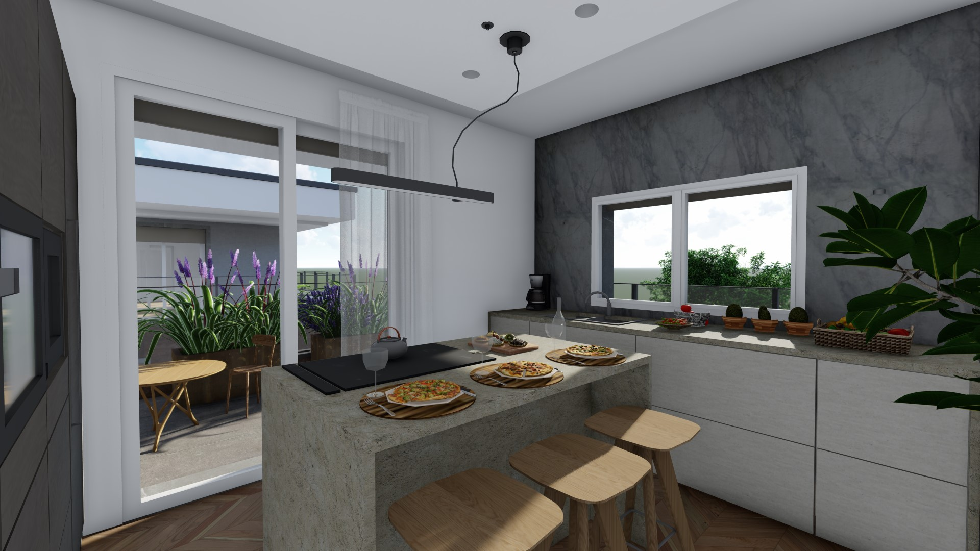 attici in vendita Treviglio - cucina abitabile
