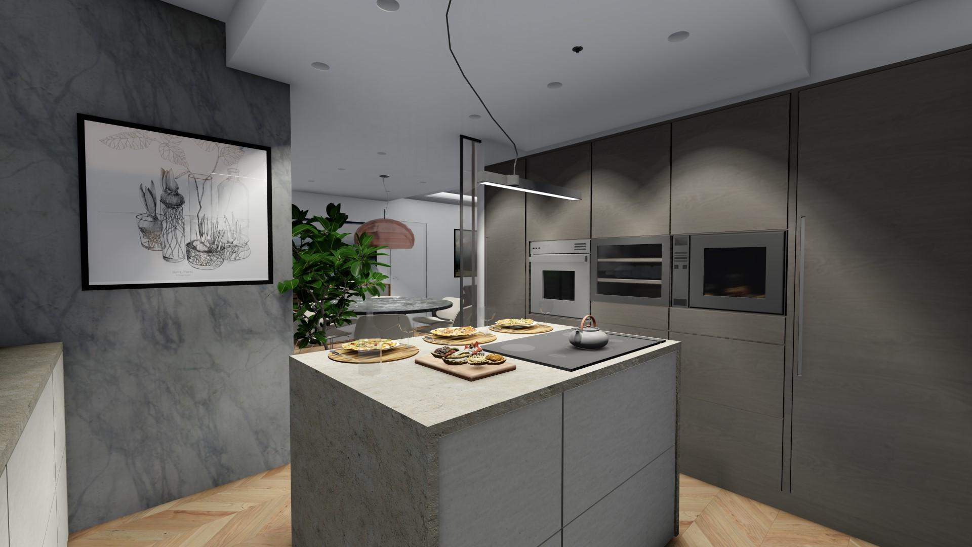 attico in vendita Treviglio - cucina abitabile